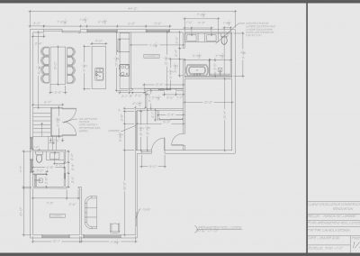 Plan rez-de-chaussée projet Comienzo | Promoteur immobilier à Saint-Lambert | Excellence Construction Rénovation