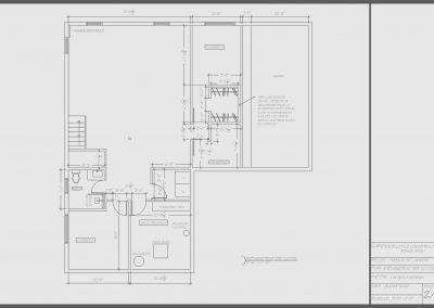 Plan sous-sol projet Comienzo | Promoteur immobilier à Saint-Lambert | Excellence Construction Rénovation