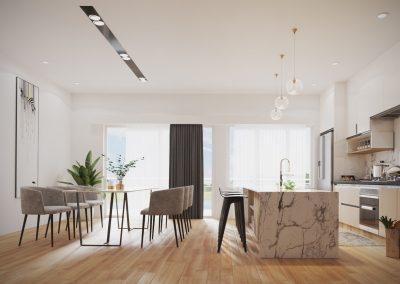 Salle à diner projet Comienzo | Promoteur immobilier à Saint-Lambert | Excellence Construction Rénovation